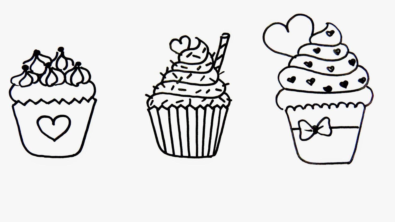 Pin Do A Mariana Matias Em Desenhos Para Pintar: Artes Mariana Santos: Desenhos De Cupcake!