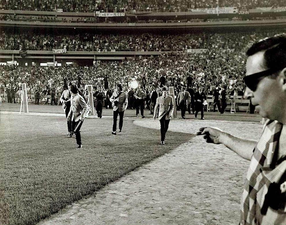 The Beatles concert at the stadium in New York on August 15, 1965