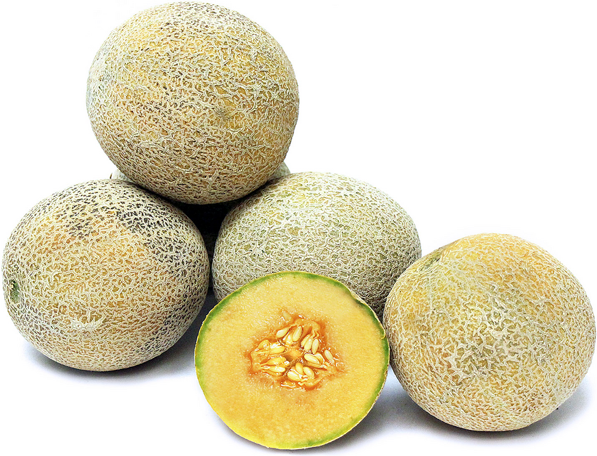 Ambrosia Melon Is A Petite Variety Of Melon That Resembles A Small Cantaloupe Its Exterior Is Covered In Sandy Hue Season Fruits And Vegetables Melon Ambrosia