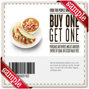 photograph about Chipotle Printable Coupon called Chipotle Mexican Grill Printable Coupon December 2016