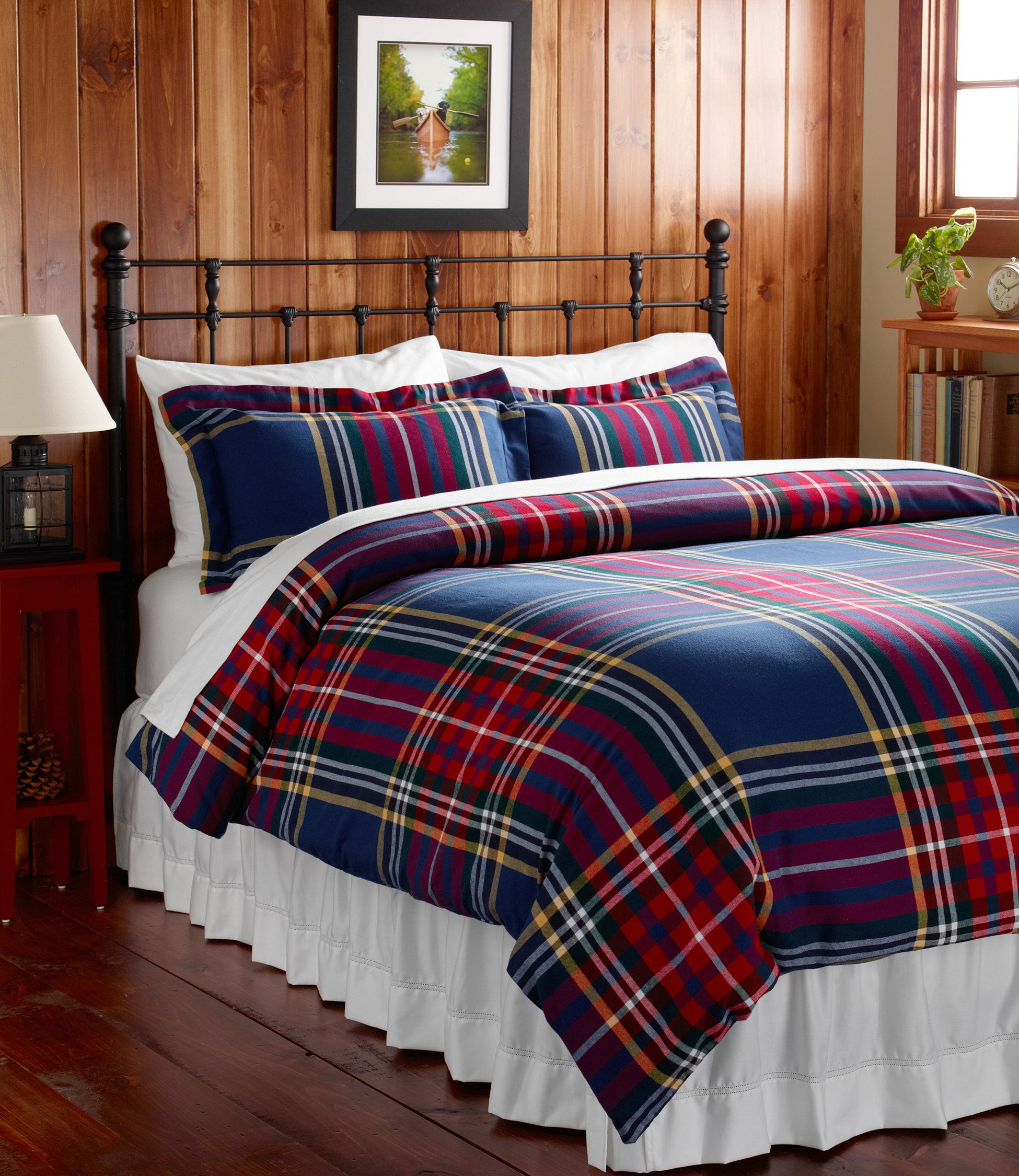 Ultrasoft comfort flannel comforter cover plaid comforter covers free shipping at l l bean