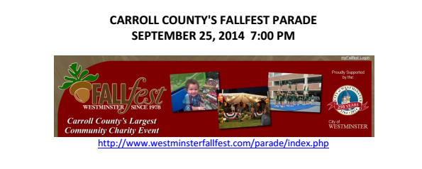 Looking for something to do with the family? CARROLL COUNTY'S FALLFEST PARADE is September 25th! www.lastingimpressions1.com   Looking for a wedding limo?   Lasting Impressions operates an unparalleled fleet of safe and luxurious Maryland, Washington D.C. and Pennsylvania limousines and specialty vehicles, all designed to delight and pamper you.