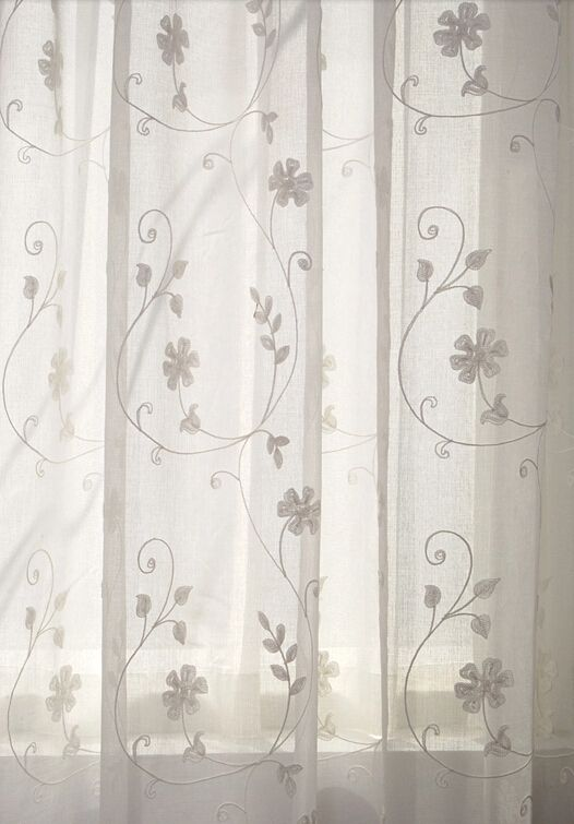 Unique White Sheer Curtains With Embroidery Curtains