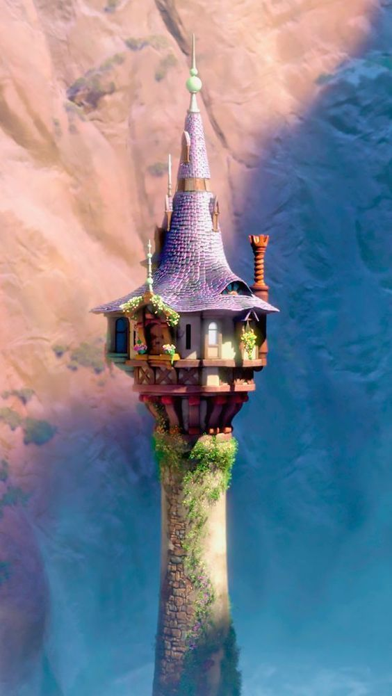 Rapunzel on the way to go all about disney disney rapunzel disney y disney films - Tangled tower wallpaper ...