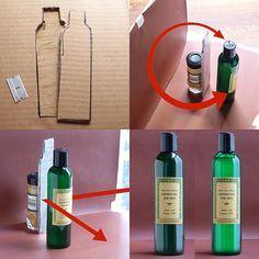 Como aportar luz a la trasera de una botella.