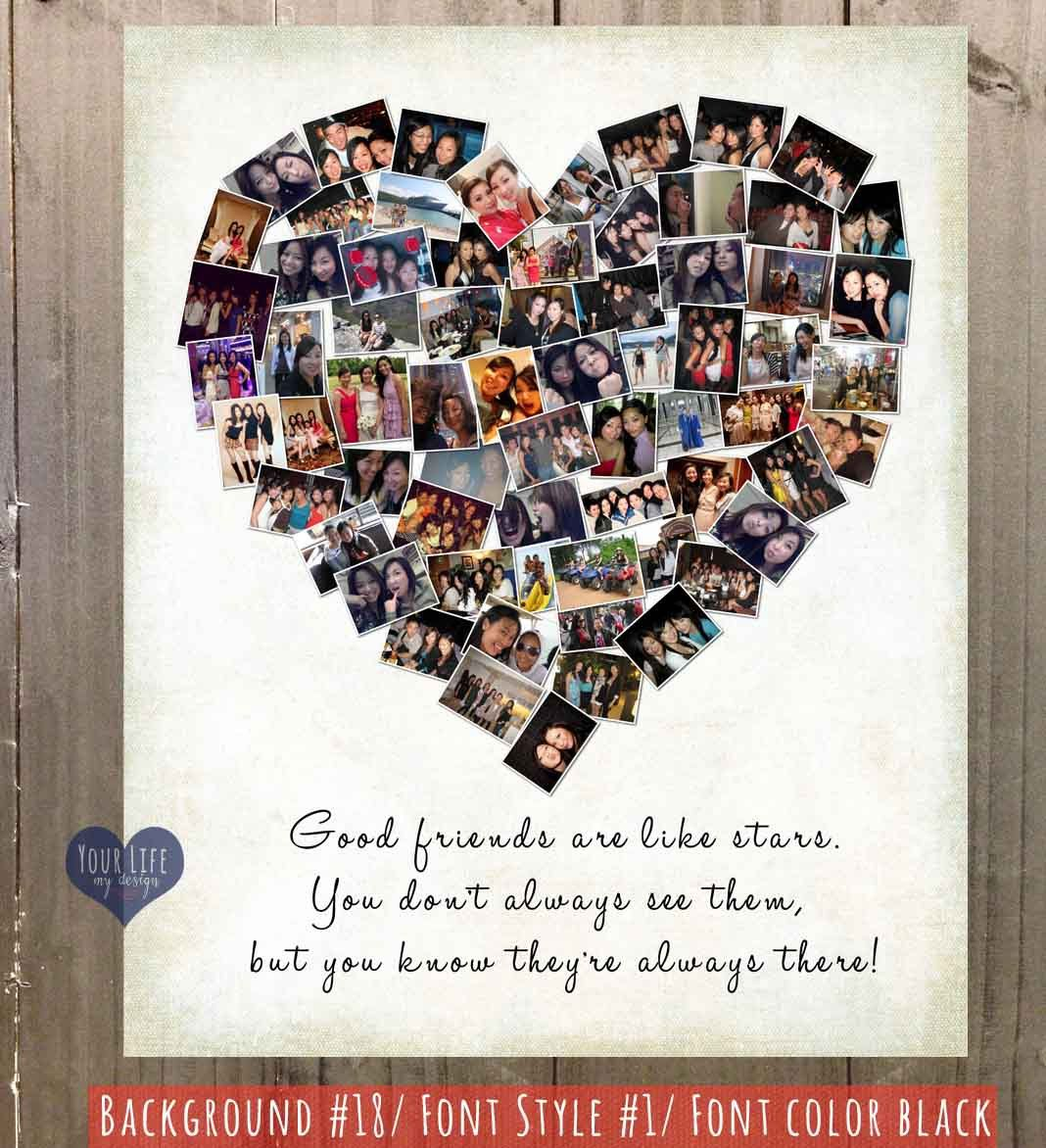 Gift For Best Friends Photo Collage By YourLifeMyDesign