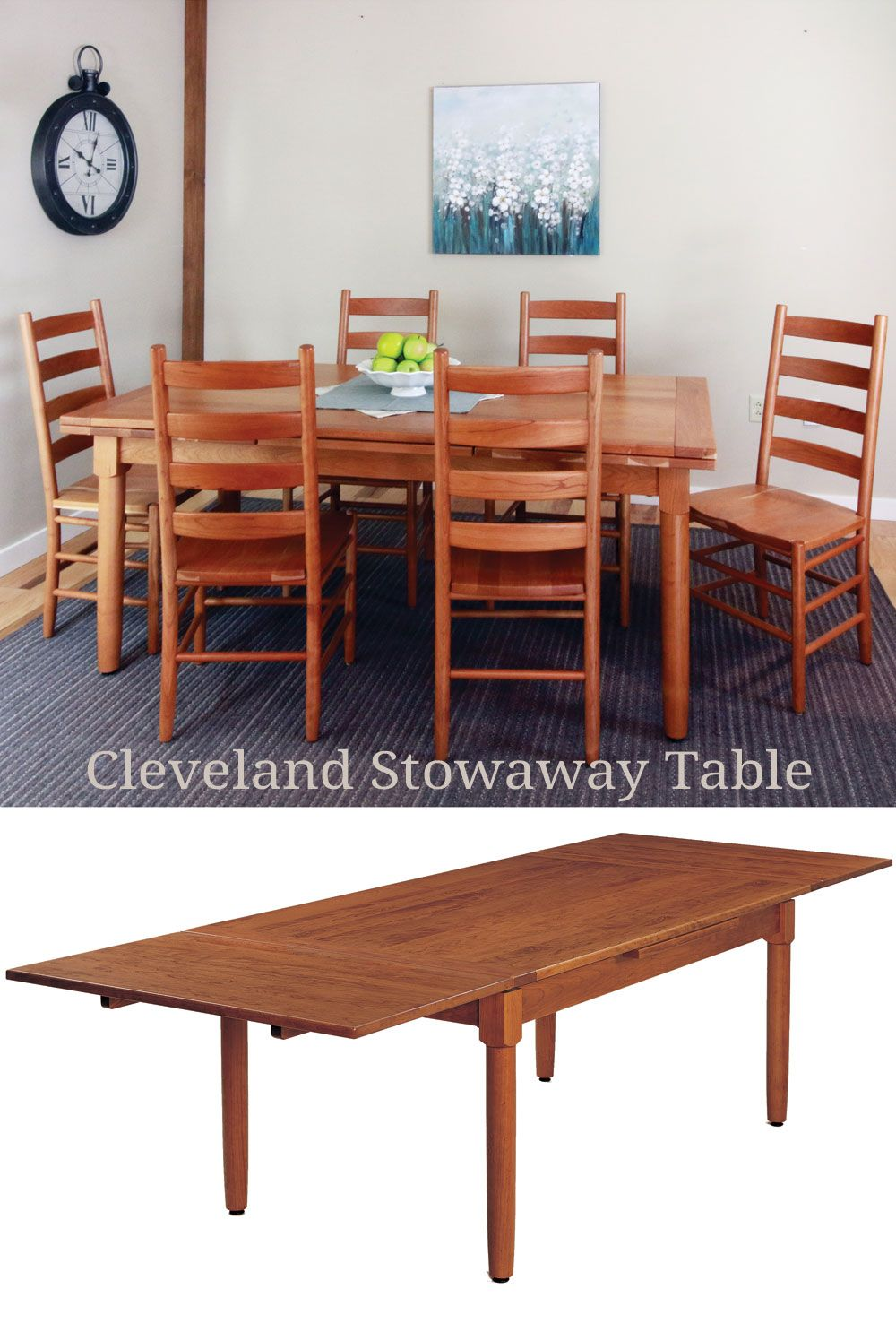 4e06b029bc Mix and match Kloter Farms chairs and tables. This set features our  Cleveland stowaway table and our Classic Shaker chairs.