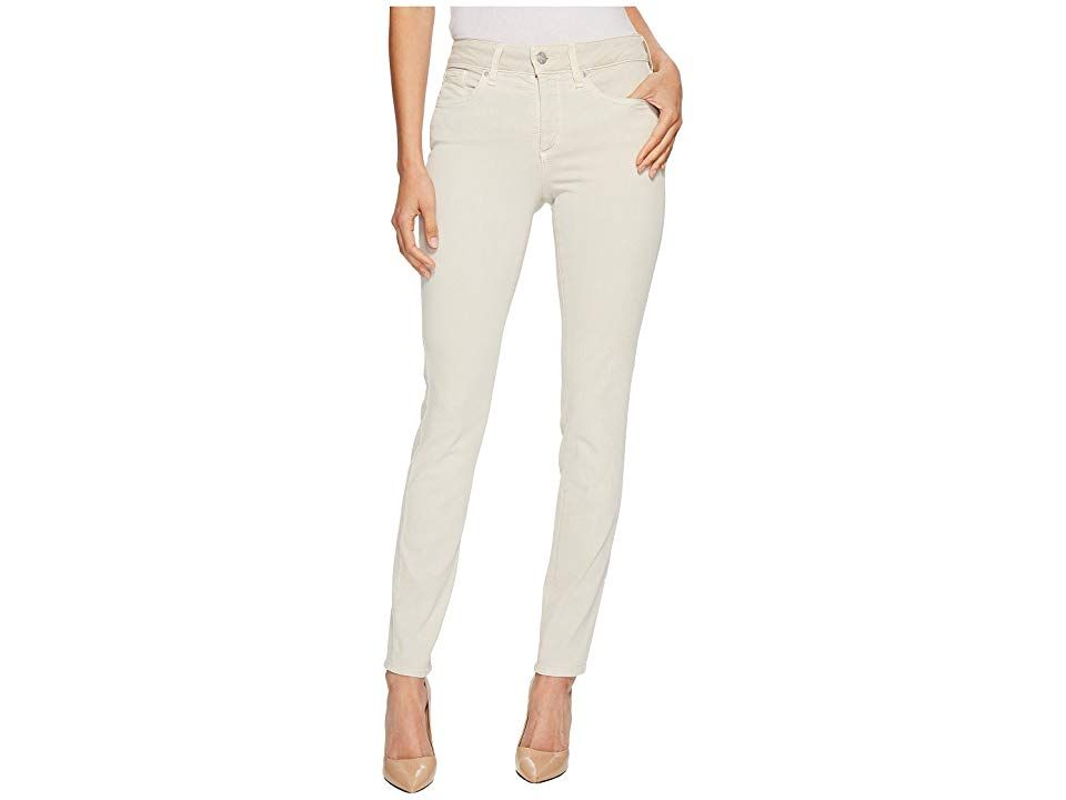 NYDJ Ami Skinny Leggings in Feather Feather Womens Jeans Clean modern denim is found in the NYDJ Ami Fivepocket jean has a high rise and skinny leg that grazes the ankle...