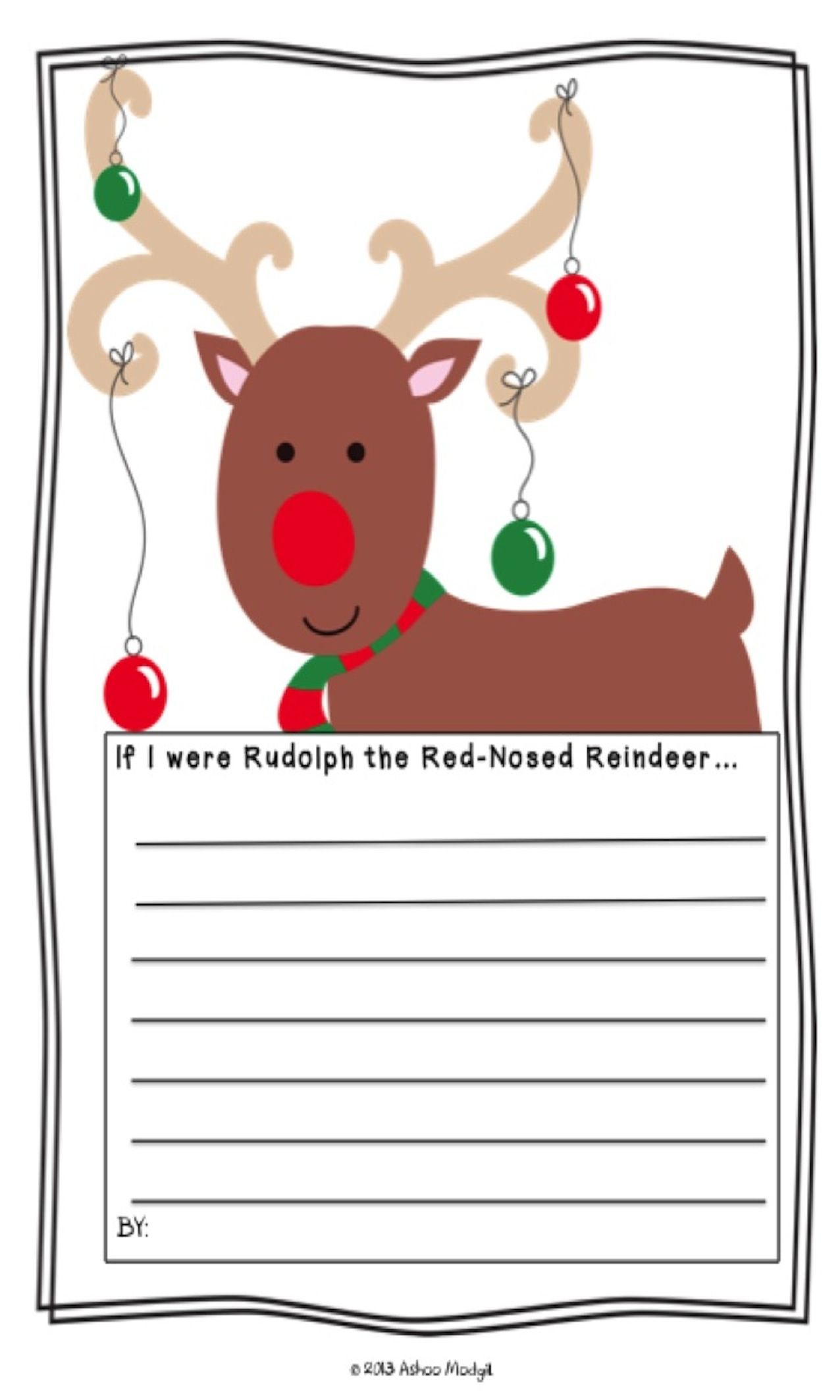 Opinion writing prompt if i were rudolph the red nosed for Rudolph the red nosed reindeer template