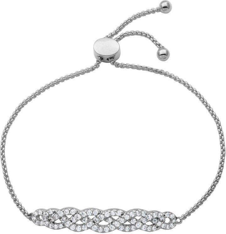 Fine Jewelry Diamonart Womens White Cubic Zirconia Bolo Bracelet VjitisgogK