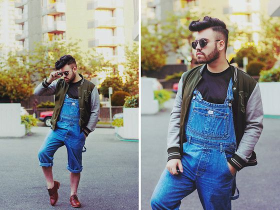 864c326a Zara Varsity Jacket, Calvin Klein Denim Overalls, American Apparel ...