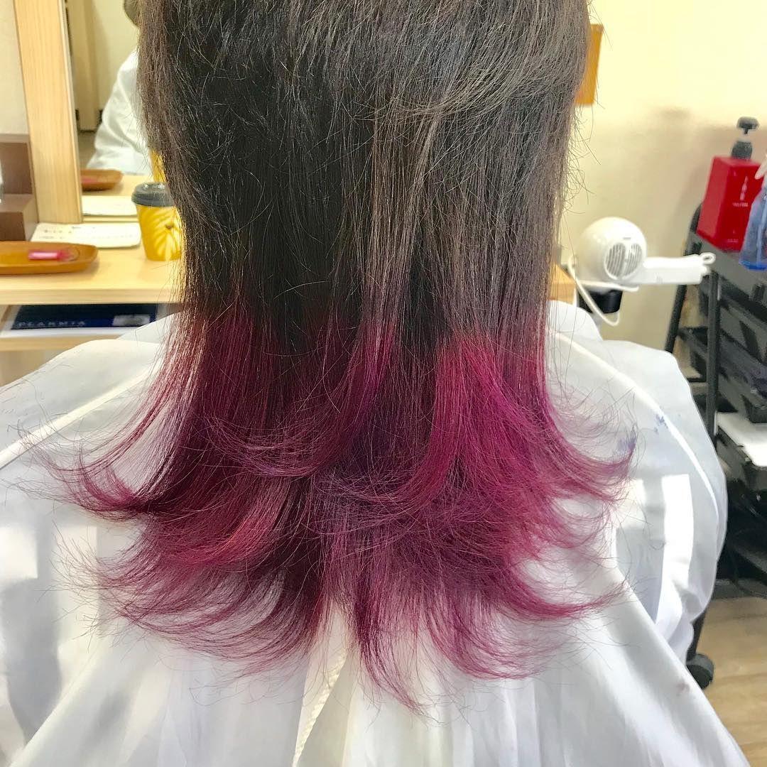 お客様color グラデーションカラーのピンクパープルはもはや鉄板 マニパニ プラムパッション 派手髪 グラデーションカラー 仙台美容室 Long Hair Styles Hair Styles