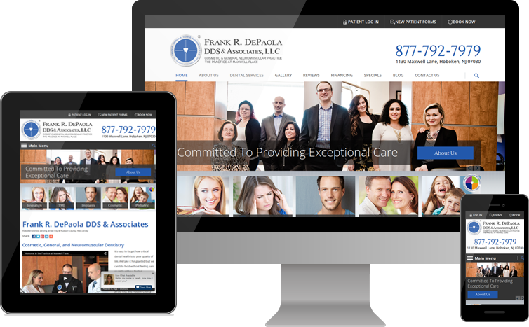 Frank R Depaola Dds Associates Llc Hoboken Nj Www Cosmeticdentistryhoboken Com Medical Websites Blog Marketing Custom Website Design