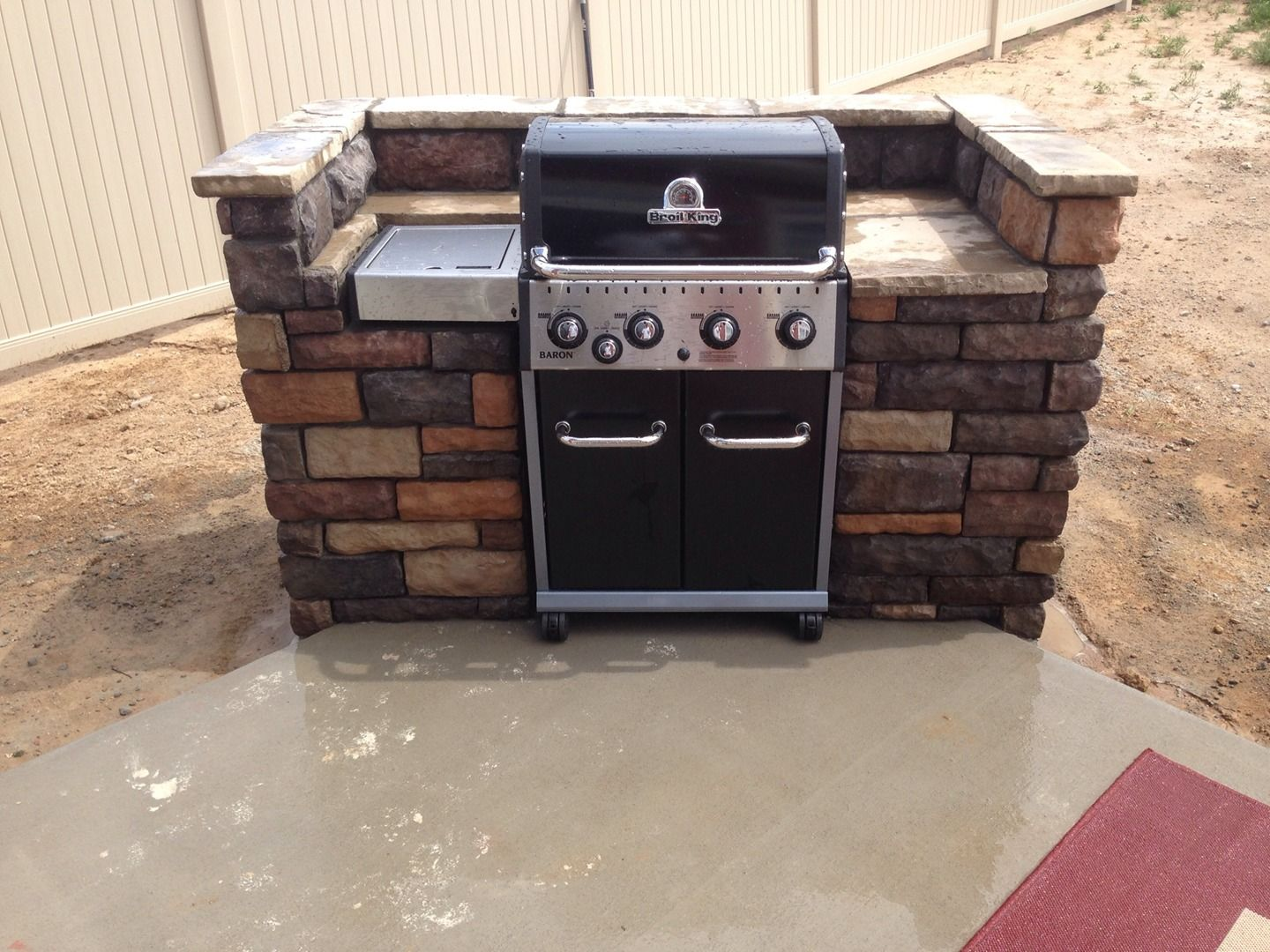 backyard kitchen built in grill patio bbq grill built in