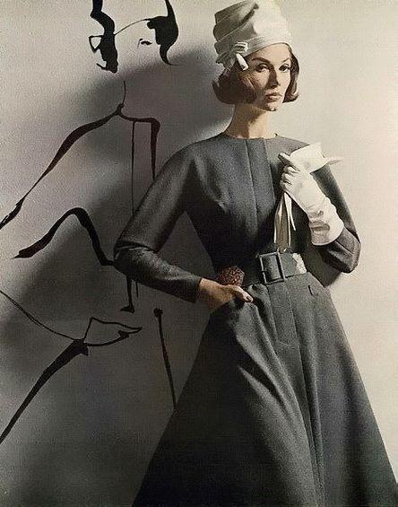 Larry Aldrich dress, Vogue, August 1962.