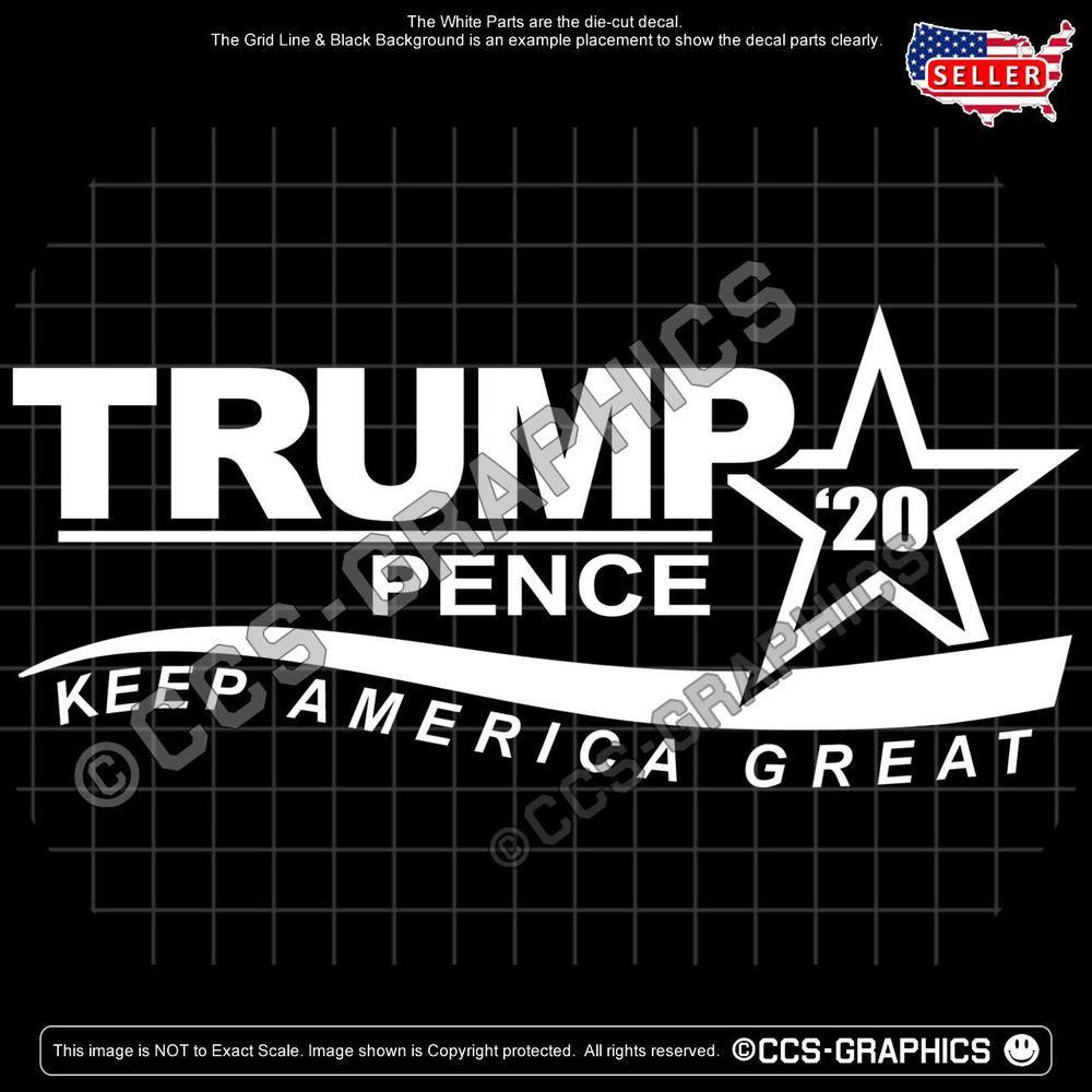 Trump 2020 Make America Great Trump 2020 USA Flag Background Bumper Sticker