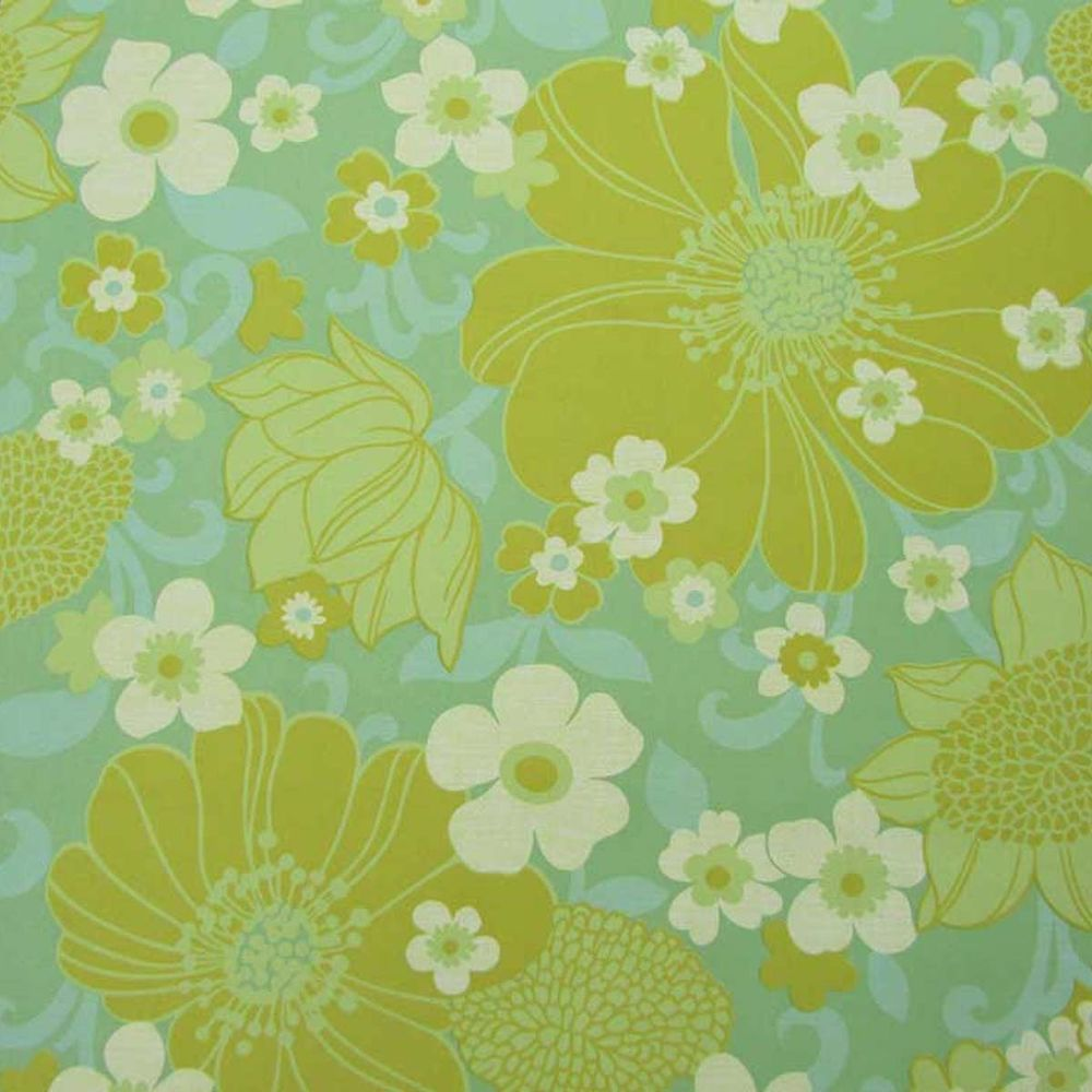 Beautiful Original Vintage Floral Wallpaper Original Mid Century