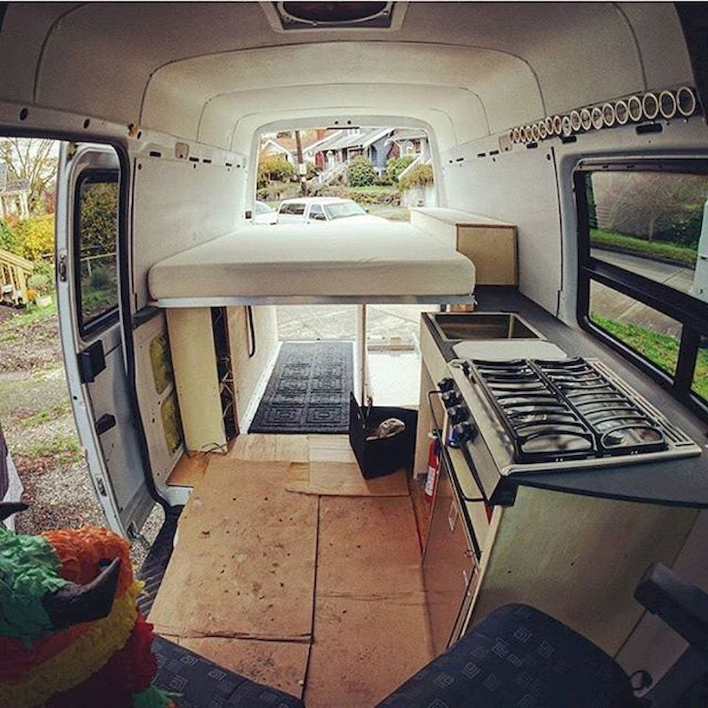 Camper Van Interior Design And Organization Ideas 33