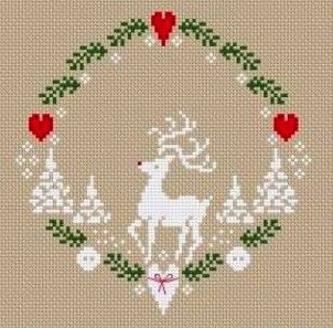 Noel Embroidery Christmas Cross Stitch Winter Home Decor Embroidered Pictures