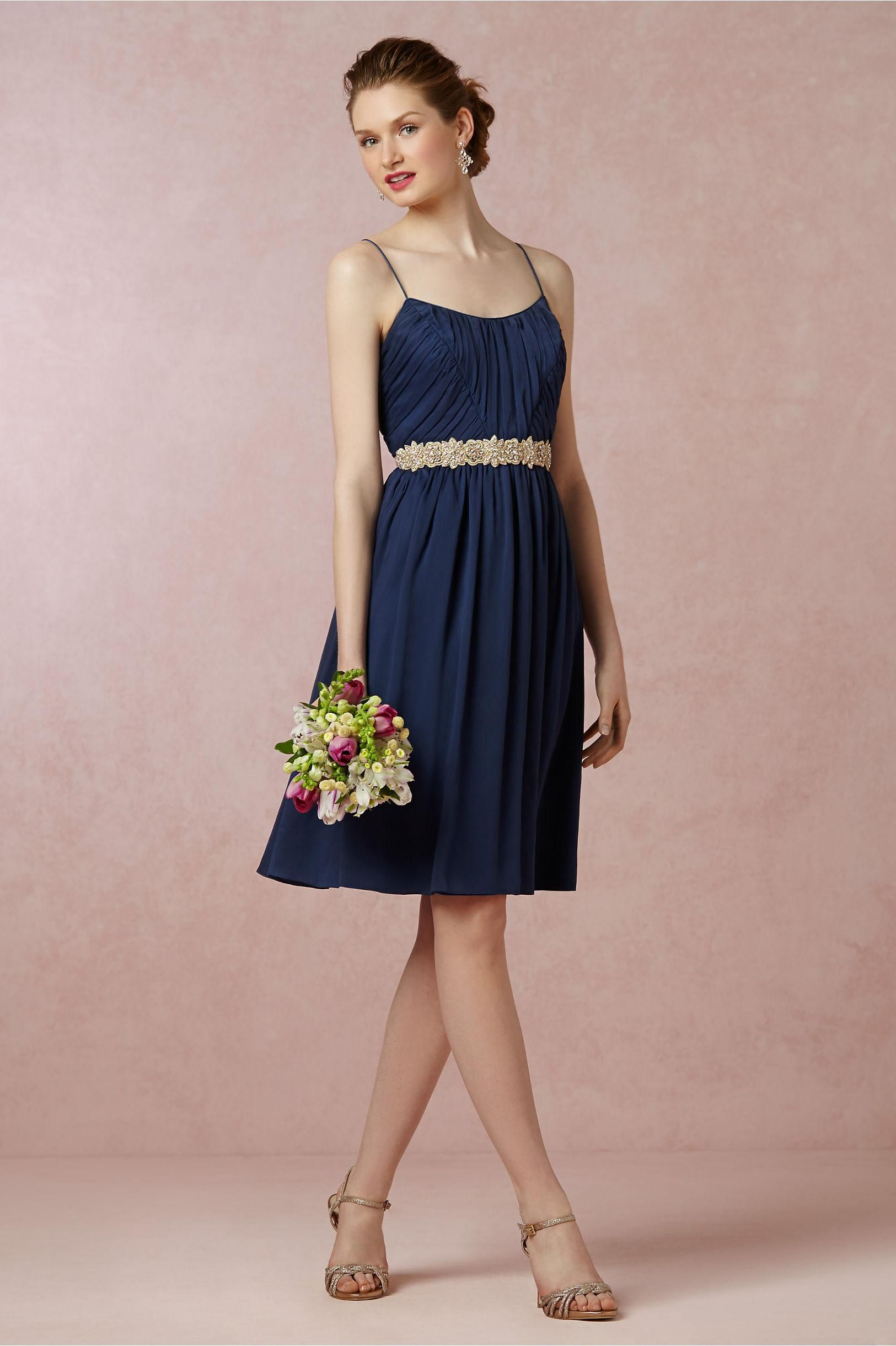 Giselle Bridesmaids Dress in Navy from BHLDN | Wedding colors ...