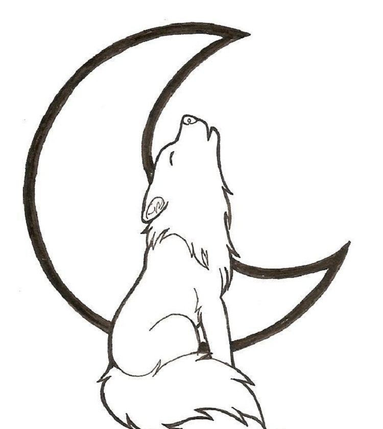Wolf Coloring Pages Easy Wolf Drawing Easy Wolf Drawing Wolf Howling Drawing
