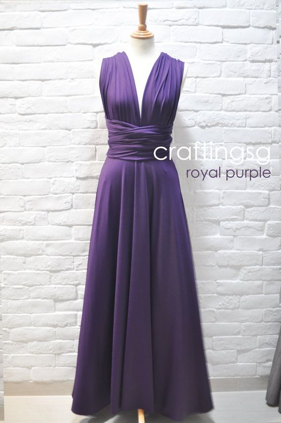 For Jess\' Wedding!!!! Bridesmaid Dress Infinity Dress Royal Purple ...