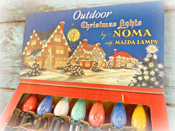Vintage Noma Christmas Lights Working Outdoor Lights Retro