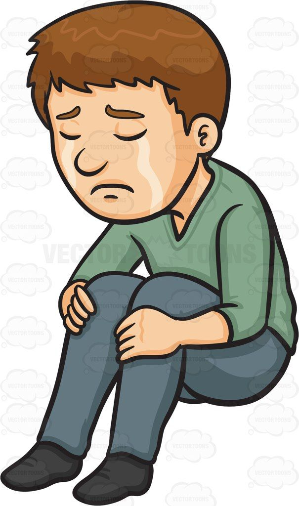 A man crying silently #cartoon #clipart #vector # ...