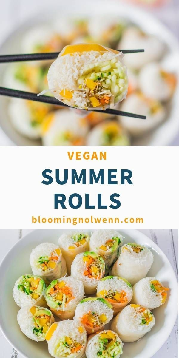 Vegan Rice Paper Summer Rolls | Gluten-Free – Blooming Nolwenn