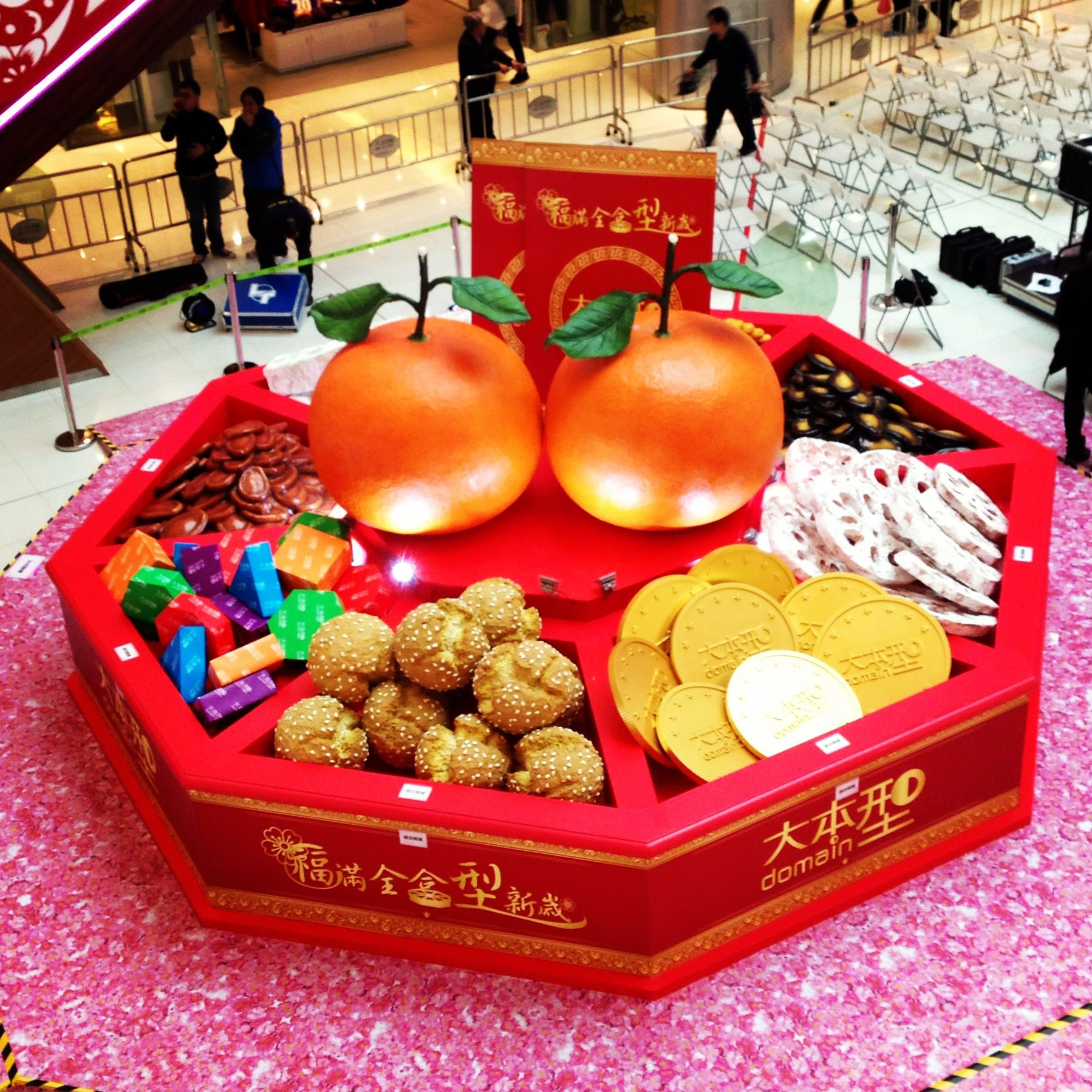 Chinese new year candy box meaning