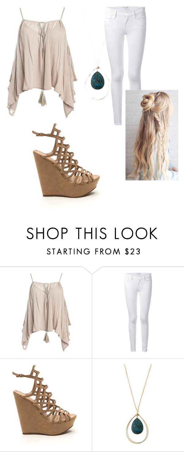 """""""Simply gorg"""" by joannaroseb ❤ liked on Polyvore featuring Sans Souci, Frame Denim and Panacea"""