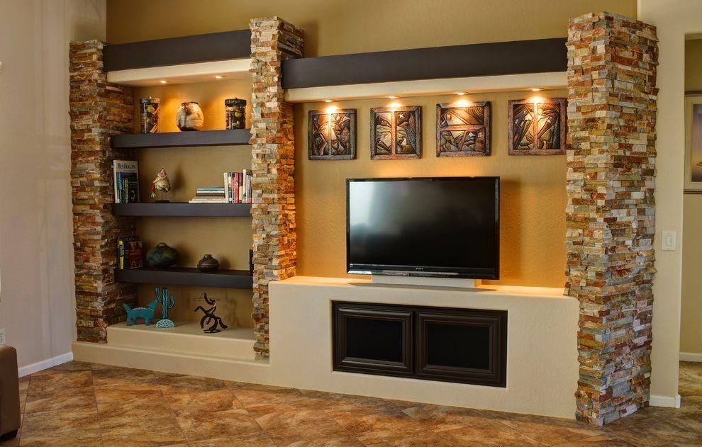Épített egyedi médiafal ötletek nappaliba - szép és érdekes ...
