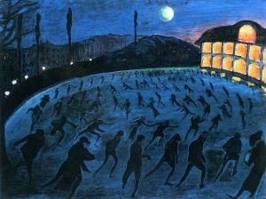 Skaters, circa 1911 - Marianne von Werefkin - The Athenaeum