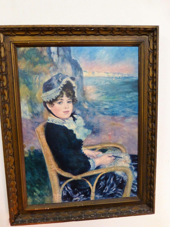 """Pierre Auguste Renoir """"By The Seashore"""" oil on canvas print by TwoSistersCoop on Etsy https://www.etsy.com/listing/474701249/pierre-auguste-renoir-by-the-seashore   #TwoSistersCoop #BreathingNewLifeIntoOldTreasures #vintage #antique #handmade #ReDone #Refurbished #repurposed"""