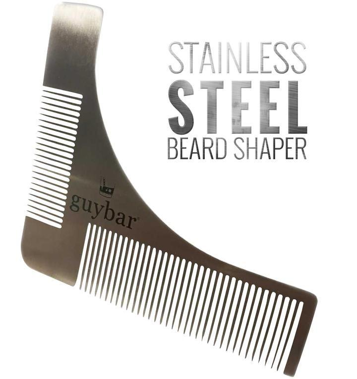 Guybar stainless steel beard shaper beard shaper beard