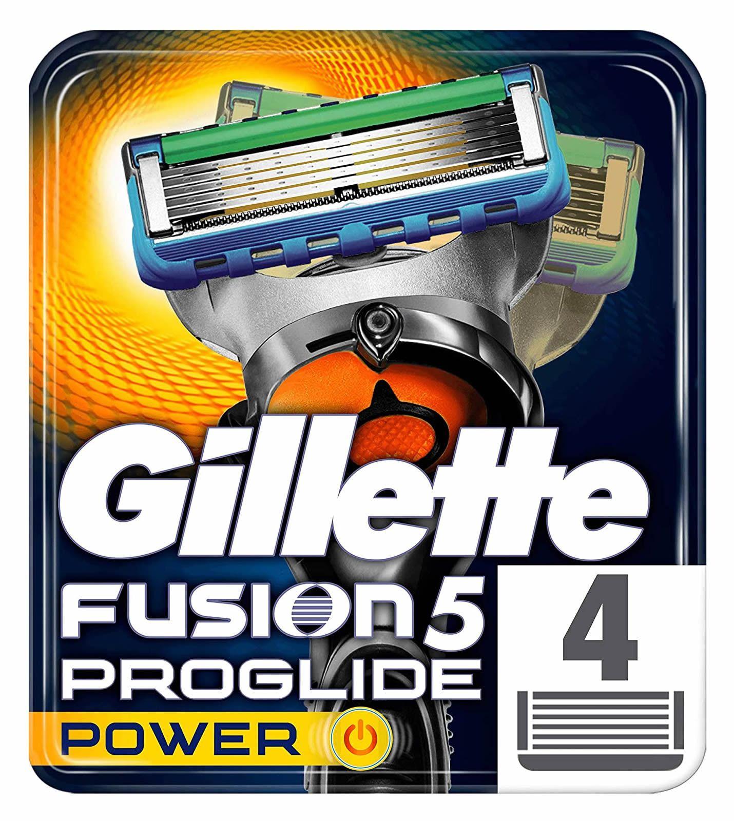 Gillette Fusion5 Proglide Power Razor Blades For Men 4 Refills In 2020 Gillette Razor Power Man Gillette Fusion