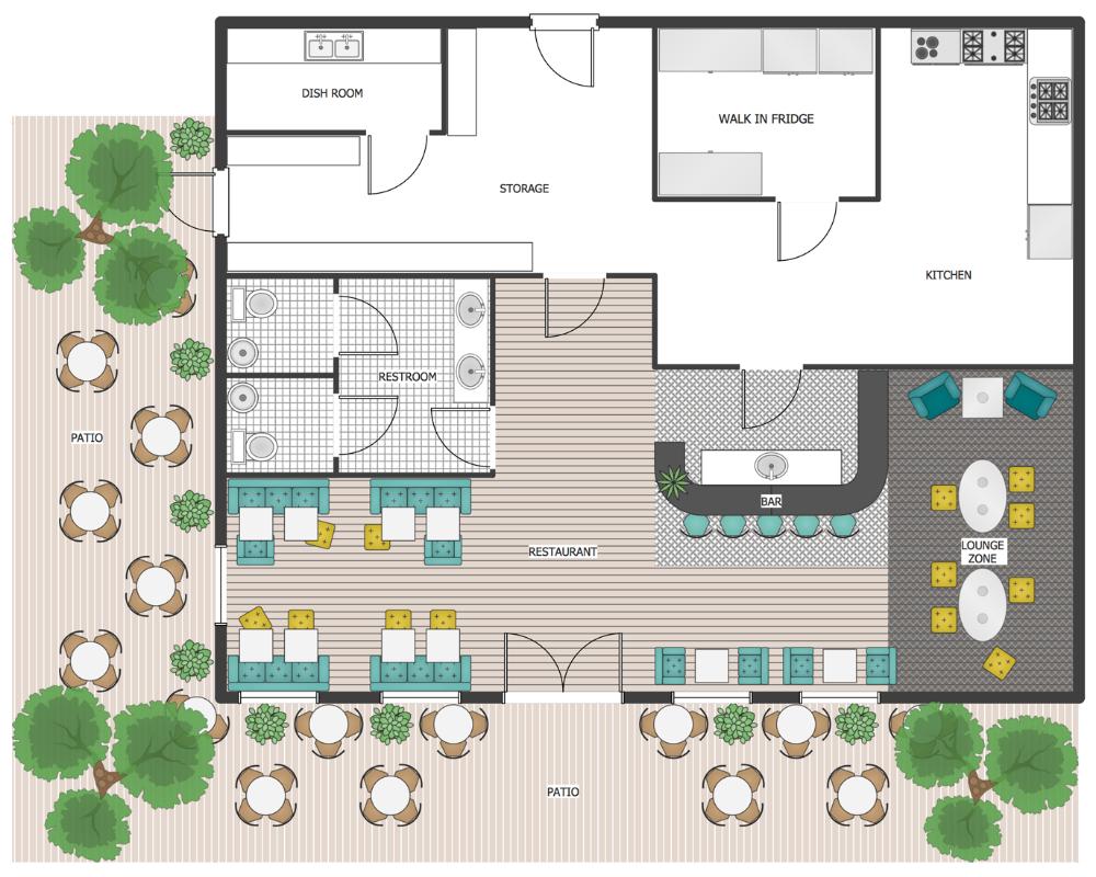 patio plan restaurant floor plan