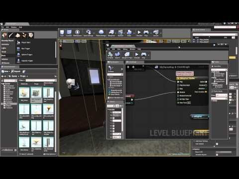 Introduction to ue4 level creation 10 blueprint doorway pt2 introduction to ue4 level creation 10 blueprint doorway pt2 youtube malvernweather Images