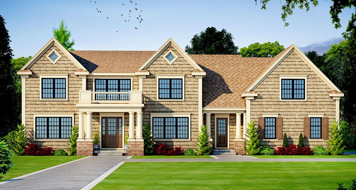 Plan 42409DB Beautifully Proportioned Traditional House
