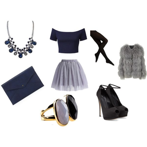 """Navy & Grey"" by everythingrosy on Polyvore"