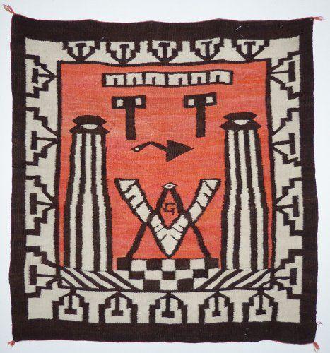Navajo Textile with Masonic symbols