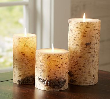 Painted Birch Candles Birch Candles Holiday Decor