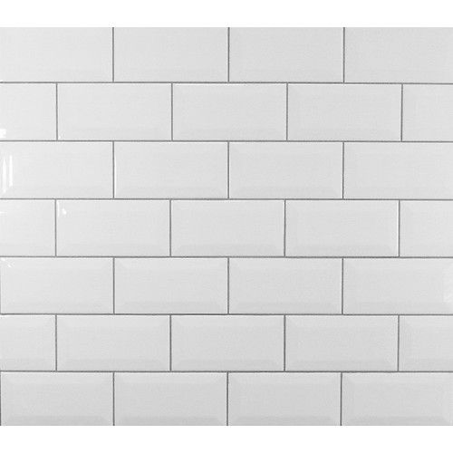 Found it at AllModern - Classic Beveled Ceramic Subway Tile in White ...