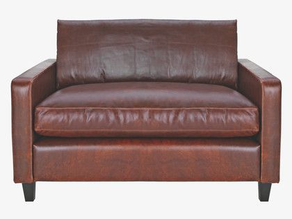 Habitat Chester Compact Leather Sofa. Small Enough To Act As A Big  Armchair, Big