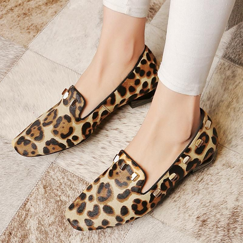 Price tracker and history of 2017 New fashion big size brand shoes apricot  rivetl thick heel fur women pumps round toe horse hair office lady causal  shoes
