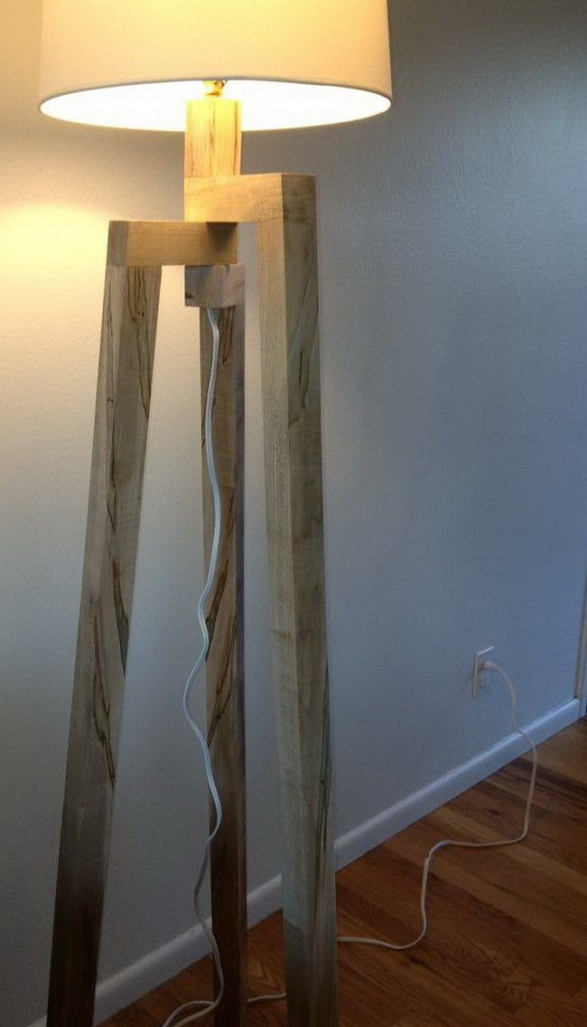 Wood Tower Floor Lamps, Instructions (not too comprehensive) for building the