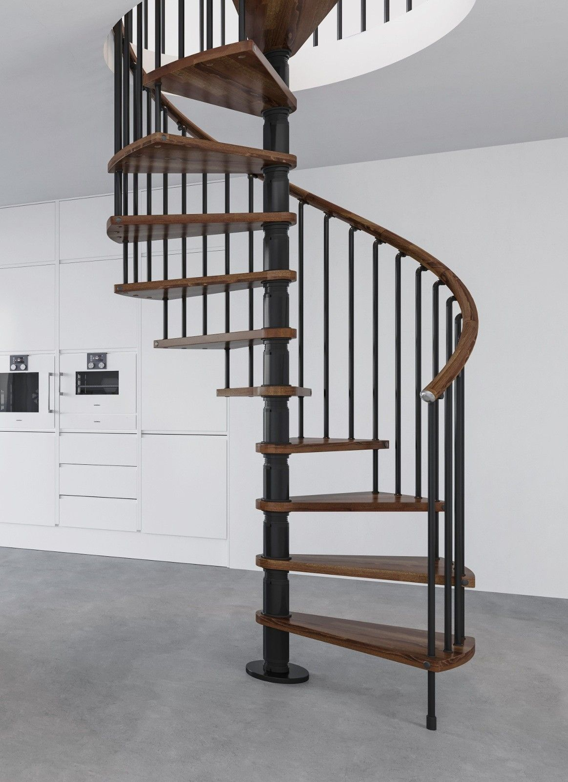 Best Black Metal Work Dark Walnut Tread Shade Stair Kits 400 x 300