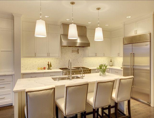 white #marble #Kitchen cuisines Pinterest Déco maison
