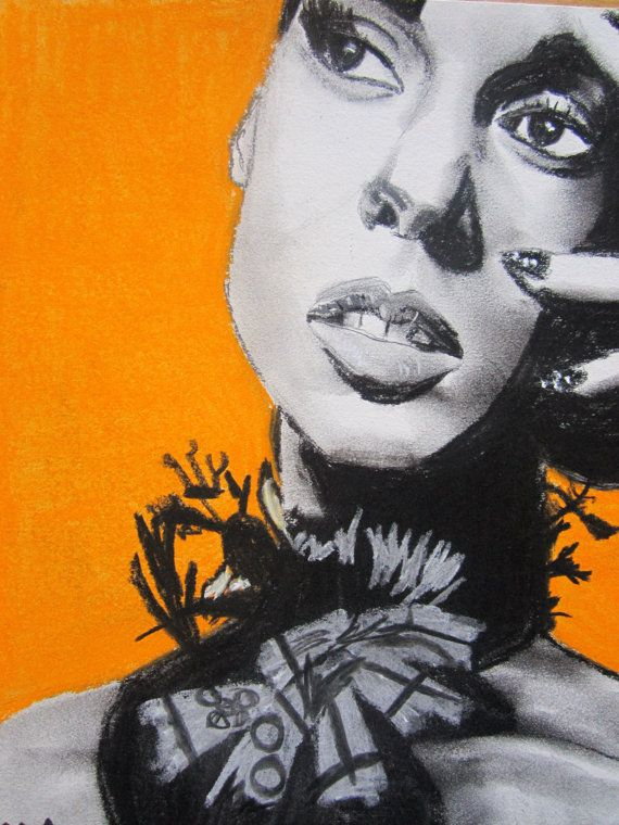ORIGINAL Alicia Keys by HollywoodinCharcoal on Etsy