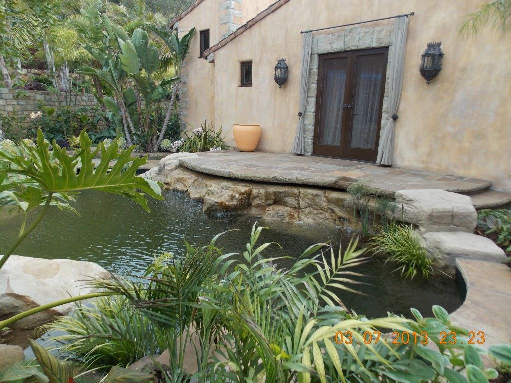 Rock koi pond small garden ponds in santa barbara for Koi ponds and gardens